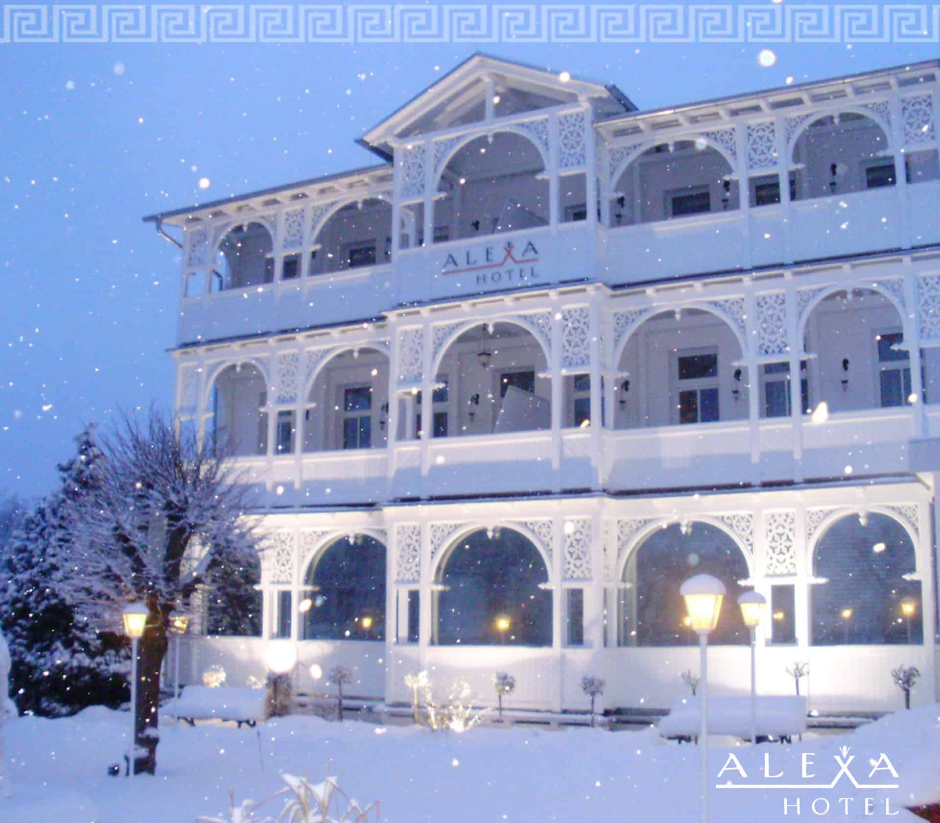 Alexa Hotel im Winter